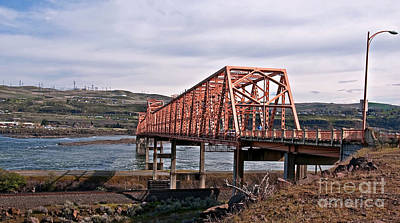 Photograph - The Dalles Steel Bridge Over Columbia River Wash Art Prints by Valerie Garner