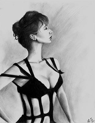 Provocative Drawing - The Dame by Leia Sopicki