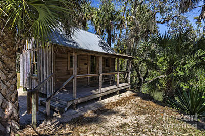 Photograph - The Damkohler Cottage At The Koreshan State Site by William Kuta