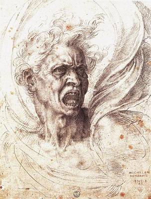 The Damned Soul Art Print by Michelangelo Buonarroti