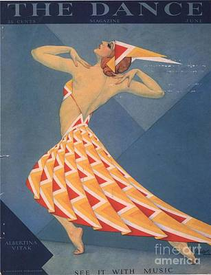 The Dance 1920s Usa Art Deco Magazines Art Print by The Advertising Archives