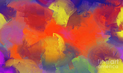 Multicolored Digital Art - The Dance - Abstract - Digital Painting by Andee Design