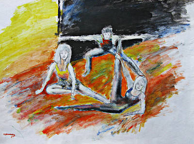 Painting - The Dance Audition by Tom Conway