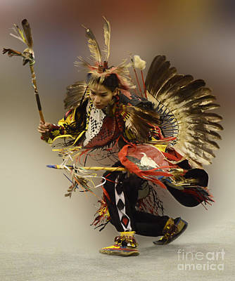 Beadwork Photograph - Pow Wow The Dance by Bob Christopher