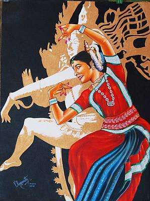 The Dance Divine Of Odissi Art Print