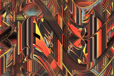 Digital Art - The Dance - Fine Art Digital Abstract Rd by rd Erickson