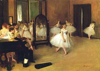 Dance Halls Painting - The Dance Hall by Edgar Degas