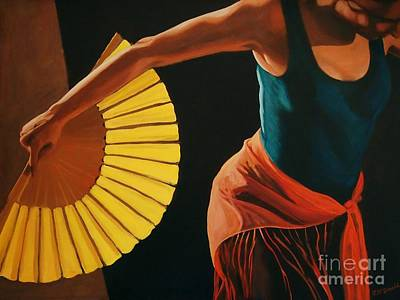 Art Print featuring the painting The Dance by Janet McDonald