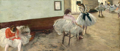 Degas Painting - The Dance Lesson by Edgar Degas
