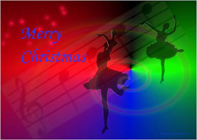 Photograph - The Dance - Merry Christmas by Joyce Dickens