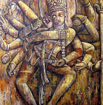 Nataraja Painting - The Dance Of Creation by Suruchi Jamkar
