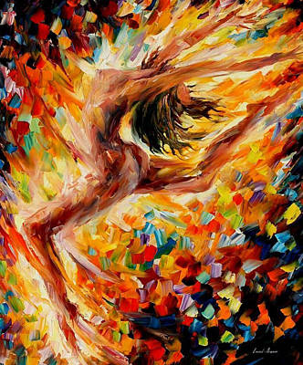 The Dance Of Love - Palette Knife Oil Painting On Canvas By Leonid Afremov Original by Leonid Afremov