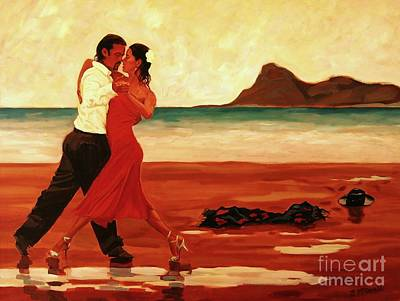 Painting - The Dance Of Passion by Janet McDonald