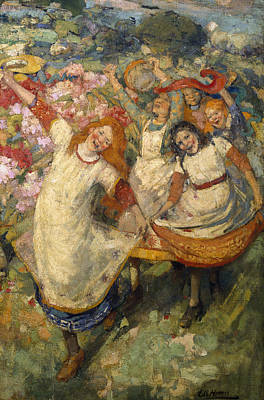 Dancing Girl Painting - The Dance Of Spring by Edward Atkinson Hornel
