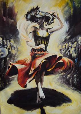 The Dance Of The Tarantula.. Art Print by Alessandra Andrisani