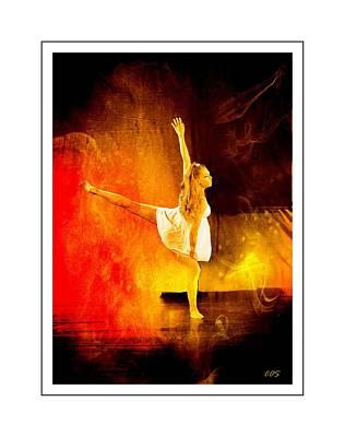 Digital Art - The Dancer 2 by Carrie OBrien Sibley