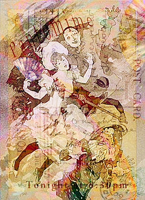 The Dancer And The Pierrot Print by Sarah Vernon