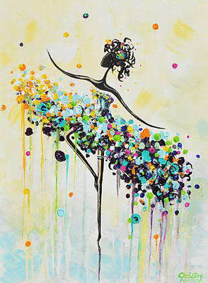 The Dancer Art Print by Christine Krainock