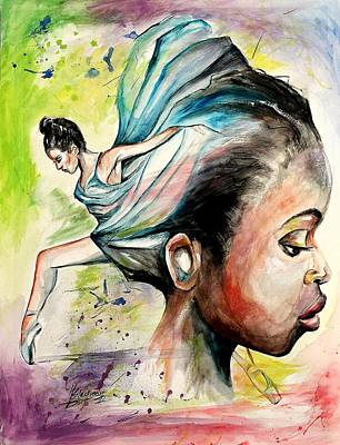 Painting - The Dancer In Me by Henry Blackmon