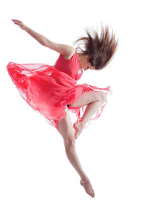 Photograph - The Dancer In Midair Isolated On White by Proxyminder