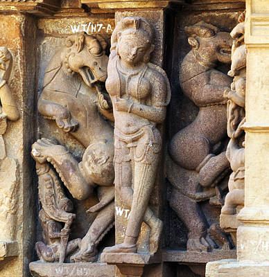 Khajuraho Dancer Photograph - The Dancer In Stone by C H Apperson