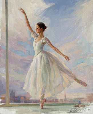 Painting - The Dancer In White by Serguei Zlenko