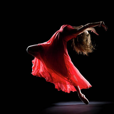 Photograph - The Dancer On Black Background by Proxyminder