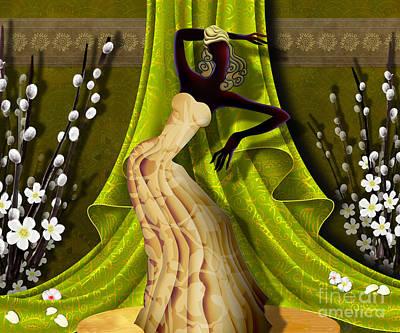 Dancer Mixed Media - The Dancer V3 by Bedros Awak