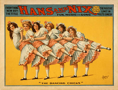 Nix Painting - The Dancing Chicks by Bill Cannon