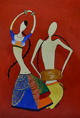 Painting - The Dancing Lady by Shruti Prasad