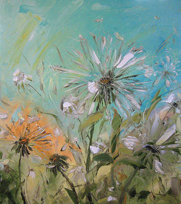 The Dandelions Art Print by Solomoon Art Studio