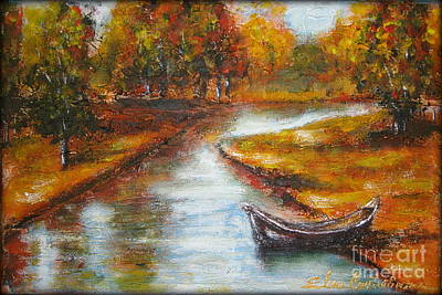 Painting - The Danube Delta  by Elena  Constantinescu