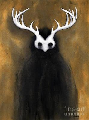 Painting - The Dark Being by Antony Galbraith
