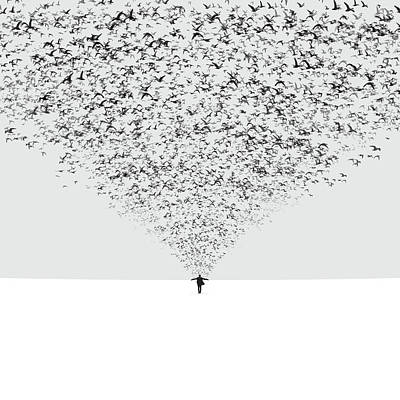 Montage Photograph - The Dark Half by Hossein Zare