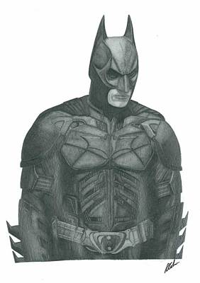 The Dark Knight Drawing - The Dark Knight by Rich Colvin