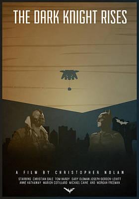 Christopher Nolan Digital Art - The Dark Knight Rises by Anton Lundin