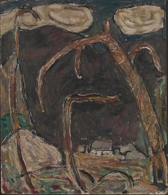 Cardboard Painting - The Dark Mountain, No. 1 by Marsden Hartley