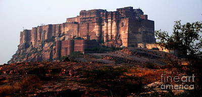 The Dark Knight Photograph - The Dark Night Rises At Mehrangarh Fort by Jacqueline M Lewis