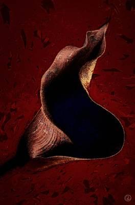 Calla Digital Art - The Dark Secrets Of A Calla Lily by Gun Legler