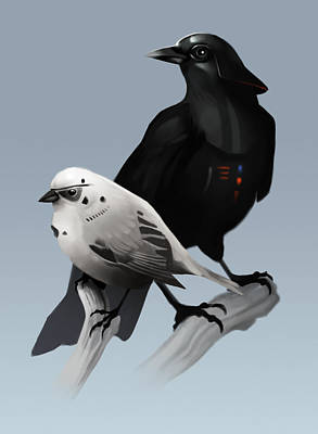 The Dark Side Of The Flock Art Print by Michael Myers