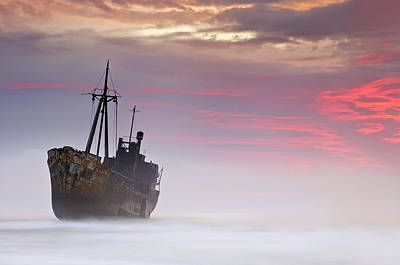 Shipwreck Wall Art - Photograph - The Dark Traveler by Mary Kay