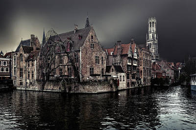 City Center Wall Art - Photograph - The Darkness Of Winter Cold by Piet Flour