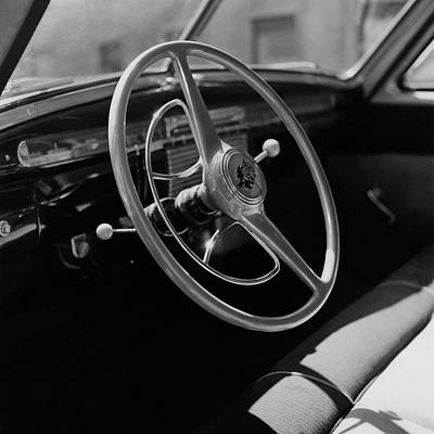 Photograph - The Dashboard Of A Frazer Sedan by Constantin Joffe