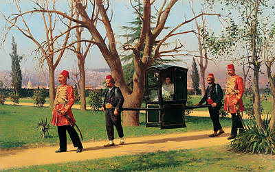 The Daughter Of The English Ambassador Riding In A Palanquin Art Print