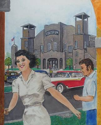 The Davis Islands Coliseum Tampa Florida Circa 1957 Art Print by Frank Hunter