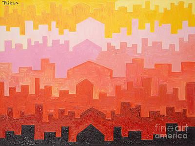 The Dawn In Arabia Art Print