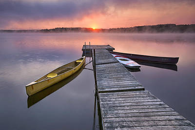 Kayak Photograph - The Day Begins by Darylann Leonard Photography