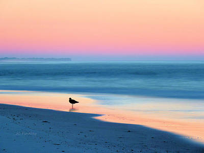 On The Beach Photograph - The Day Begins by JC Findley