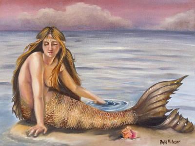 Sandbar Painting - The Day-dreamer by Phyllis Beiser