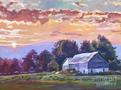 Painting - The Day Ends   by David Lloyd Glover